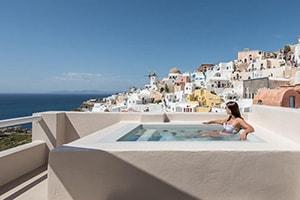 art maisons oia castle honeymoon suite