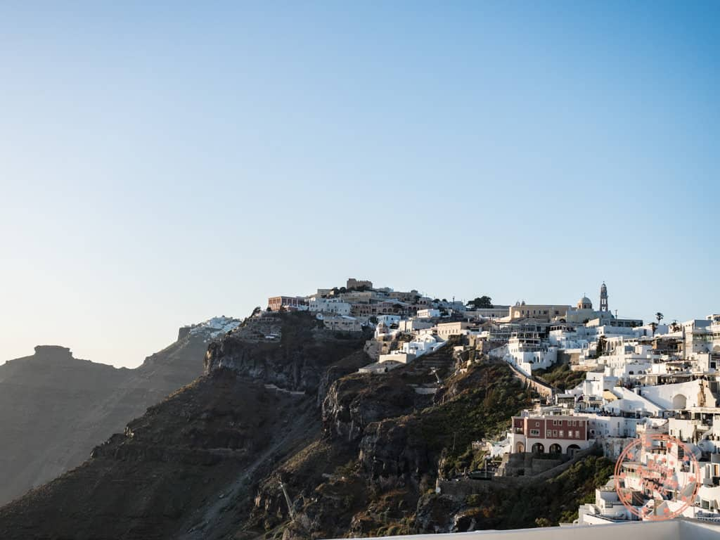 how to get from athens to santorini to see cliff sunsets