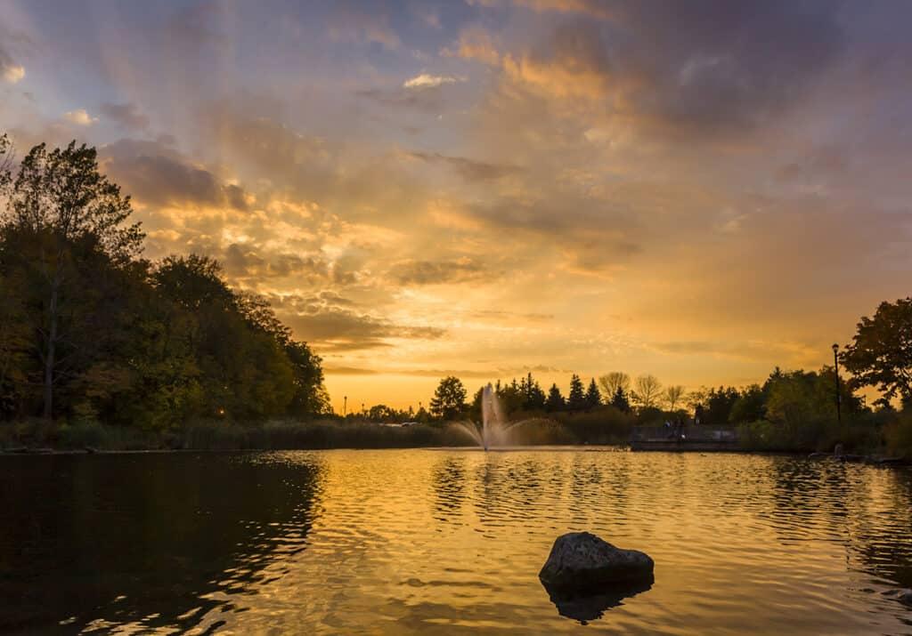 milliken park at sunset