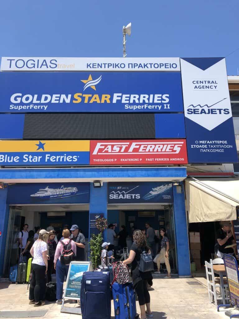 rafina ticket kiosk for ferries