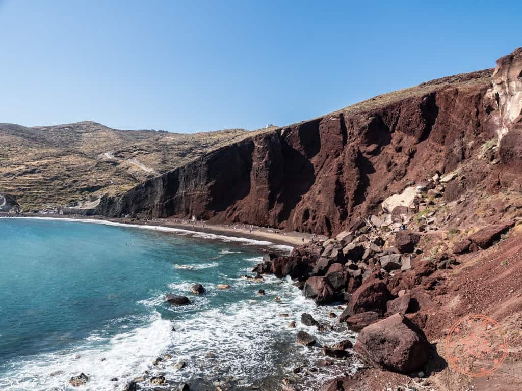red beach in akrotiri santorini