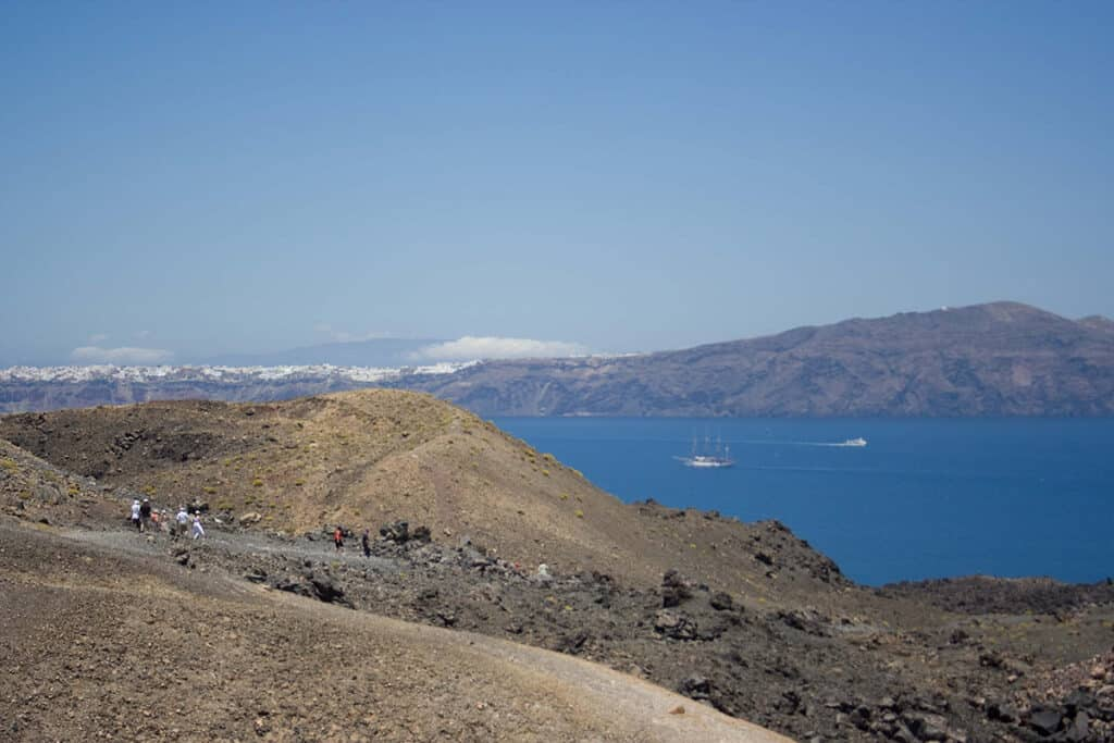 is santorini worth it hiking the volcano in excursion