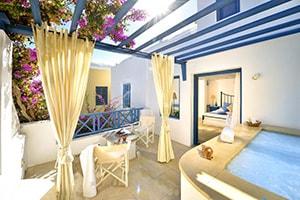 tamarix del mar suites kamari area to stay in santorini