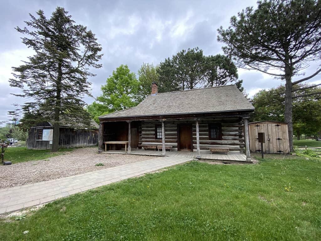 thomson memorial park and scarborough museum mccowan log house
