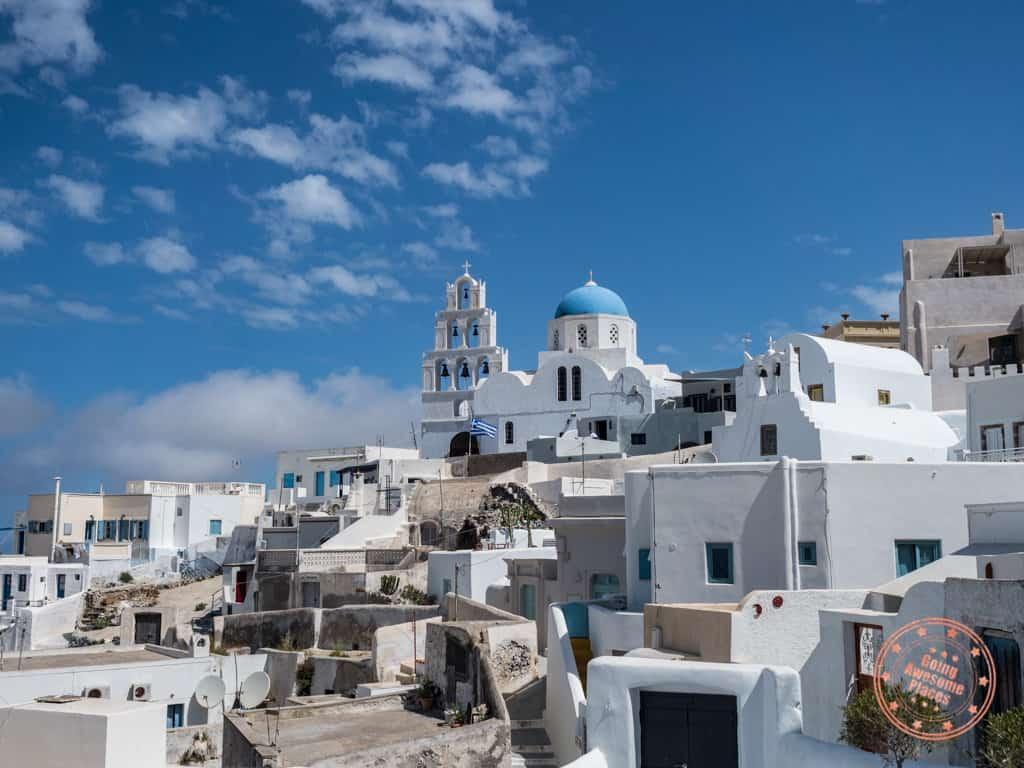 where to stay in pyrgos santorini