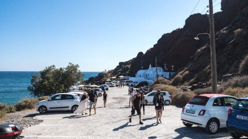 how to rent a car in santorini featured