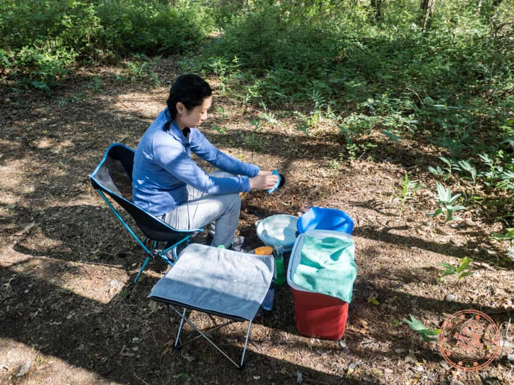 camping cleaning station set up must haves