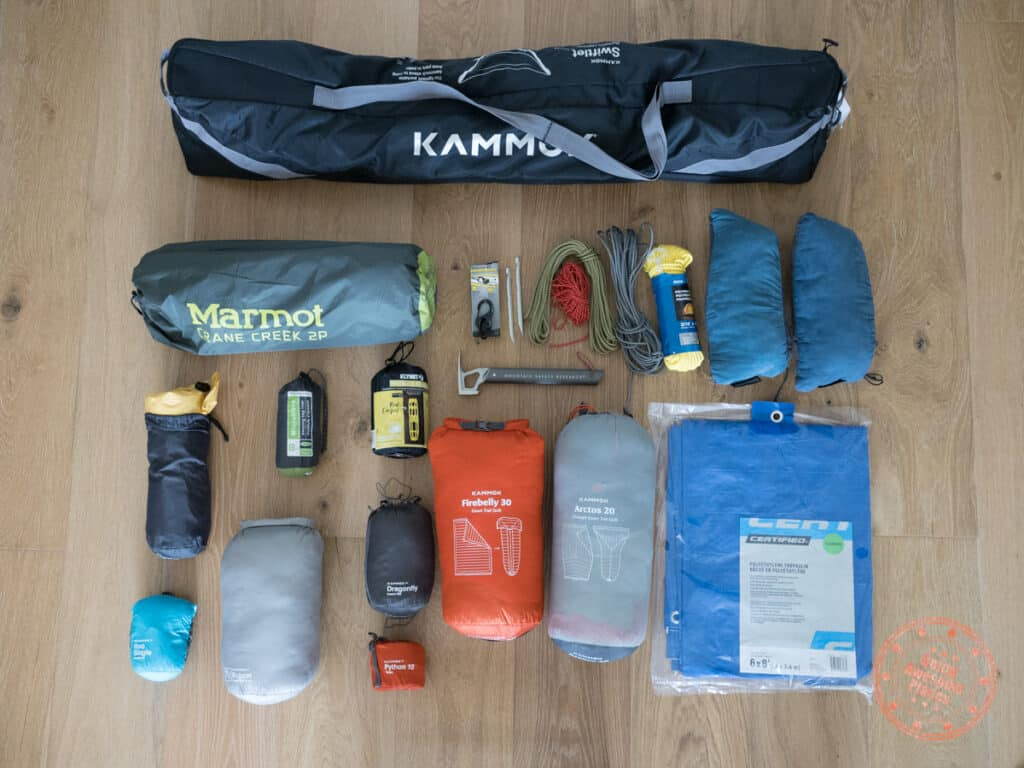 camping packing list tent and hammock gear