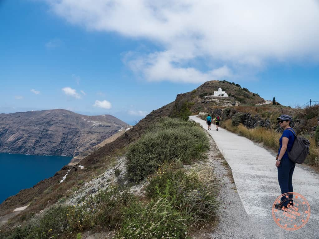 fira to oia hike trail and why you don't need a car rental everyday