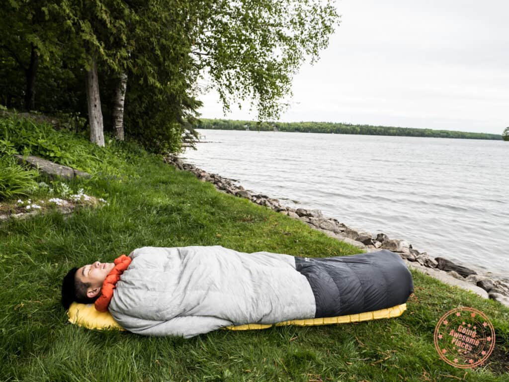 kammok arctos in sleeping bag mode
