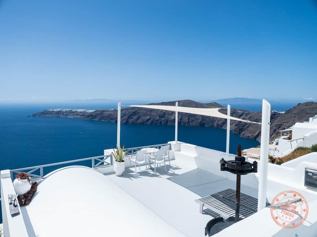 top of prekas apartments caldera villa in imerovigli of santorini