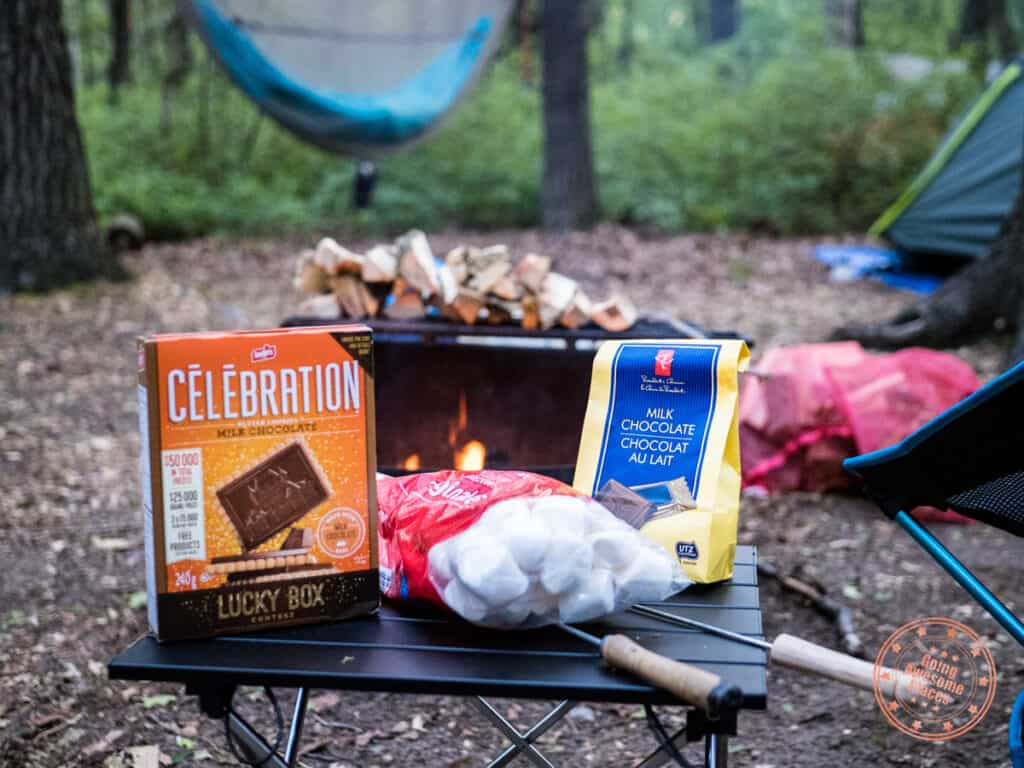 smores around the campfire is a camping must have