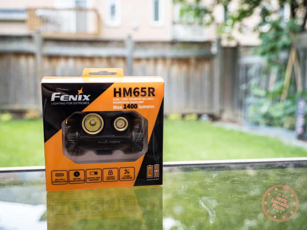 fenix hm65r review headlamp packaging