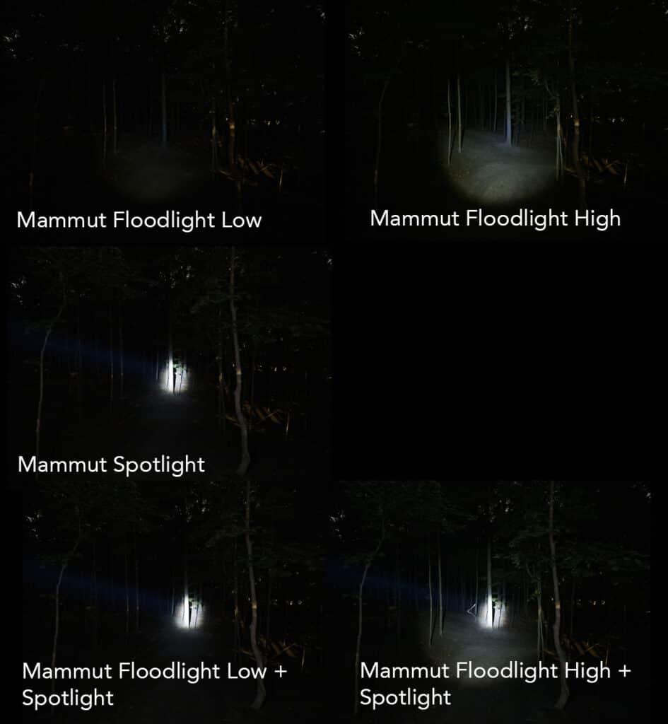 headlamp lighting test mammut lucido tx1
