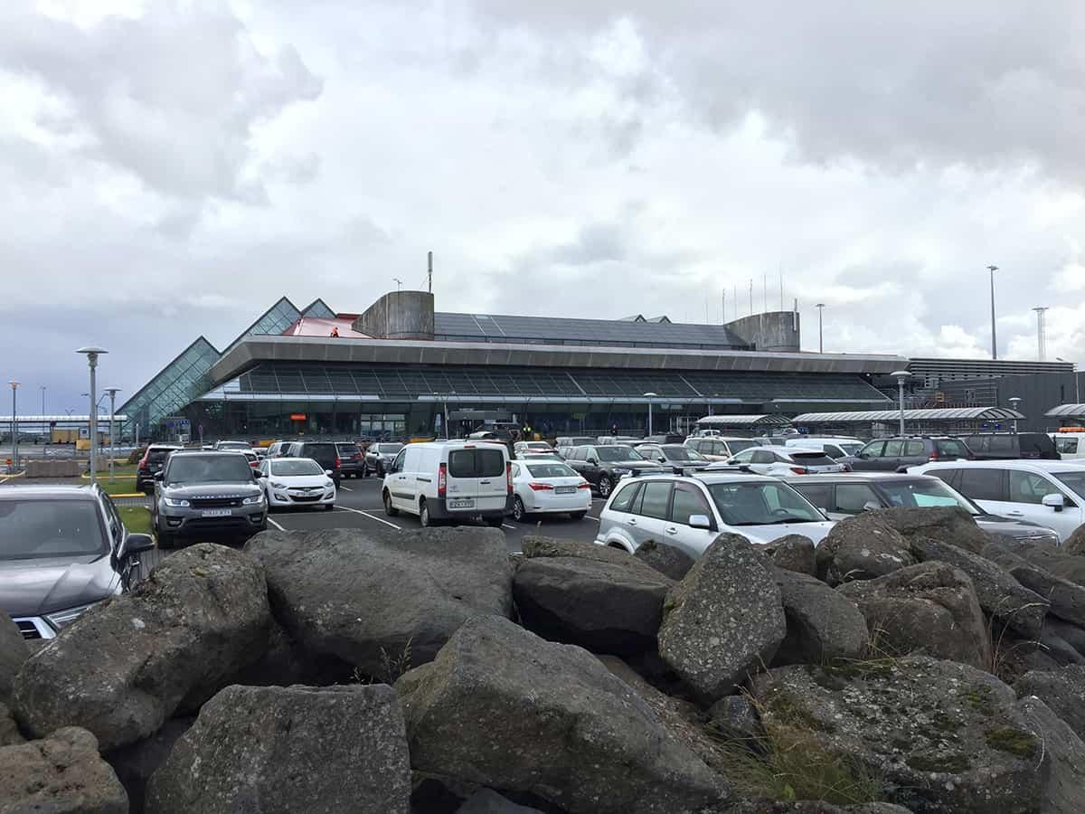 keflavik international airport parking lot