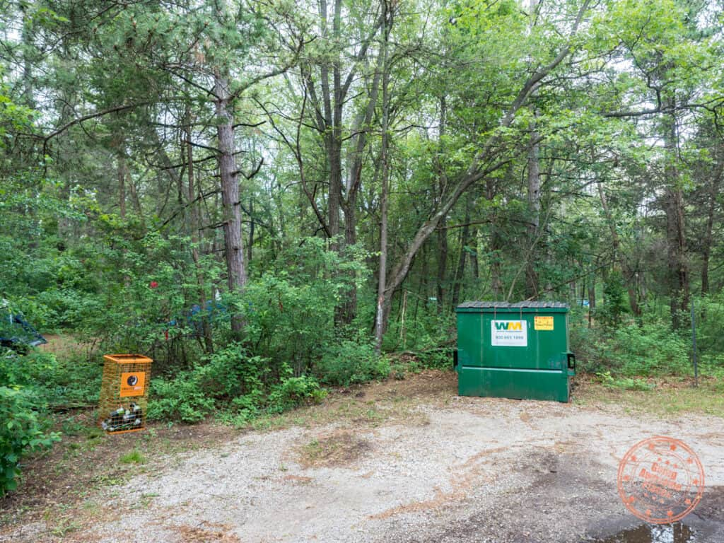 campsite garbage and fuel disposal sites at pinery provincial park
