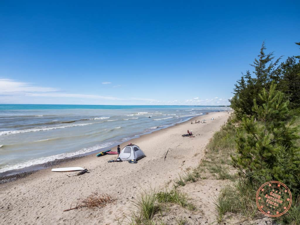 pinery provincial park day use beach