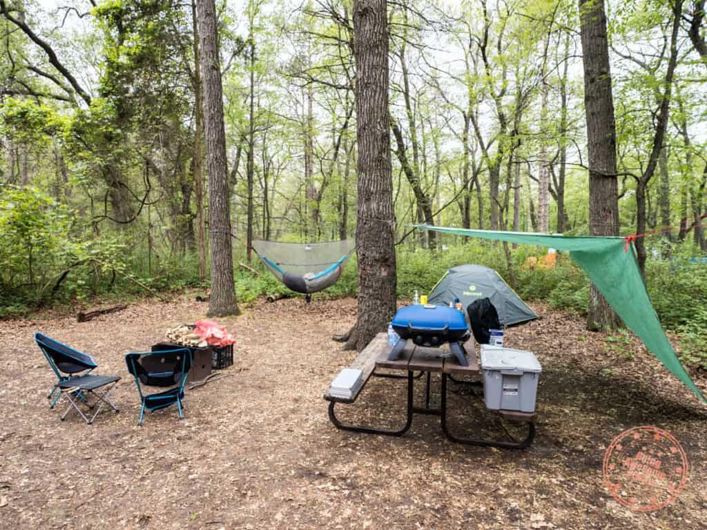 pinery provincial park dunes area campsite