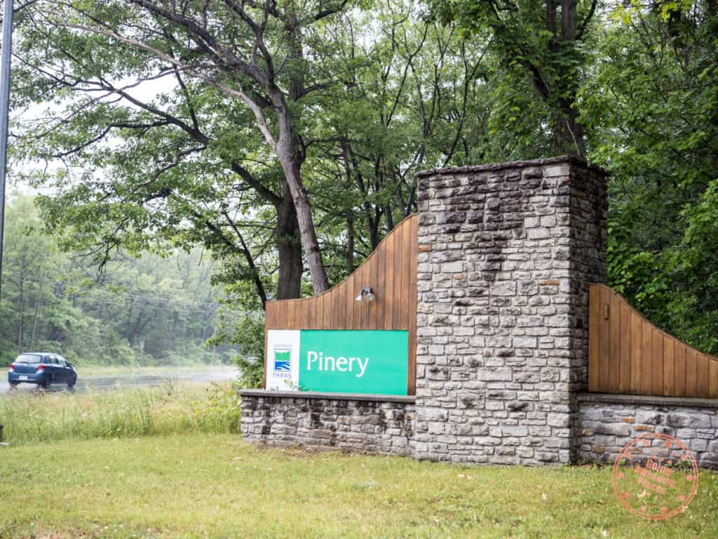 pinery provincial park entrance sign