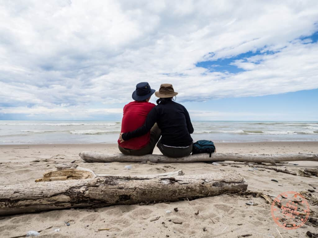 pinery provincial park couple on beach review