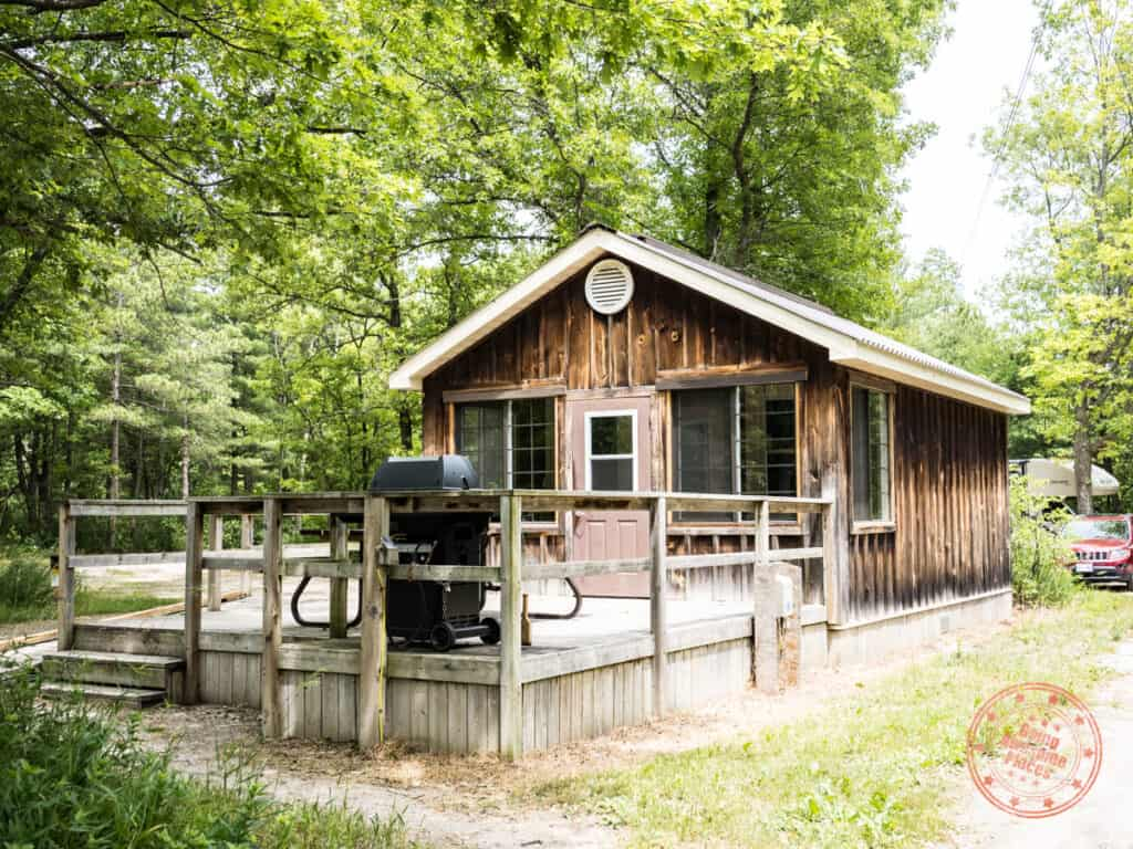 pinery provincial park rustic cabin