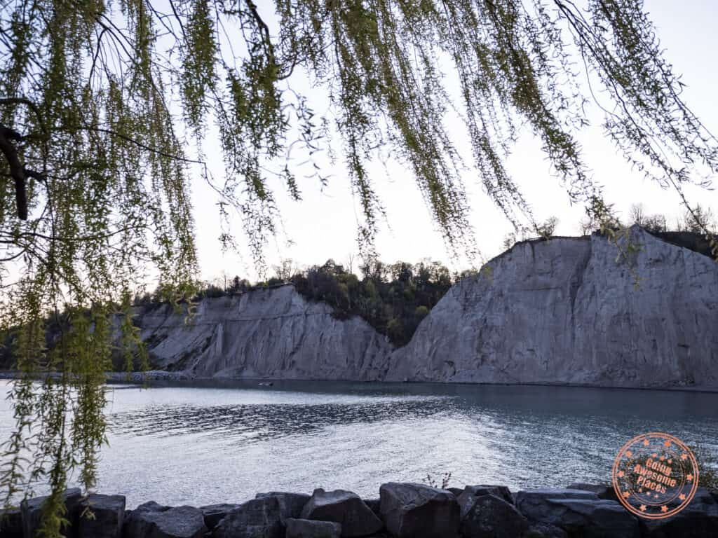 scarborough bluffs at sunset