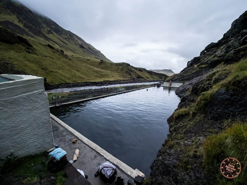 bring your swimsuit for the iceland hot springs such as seljavallalaug pool
