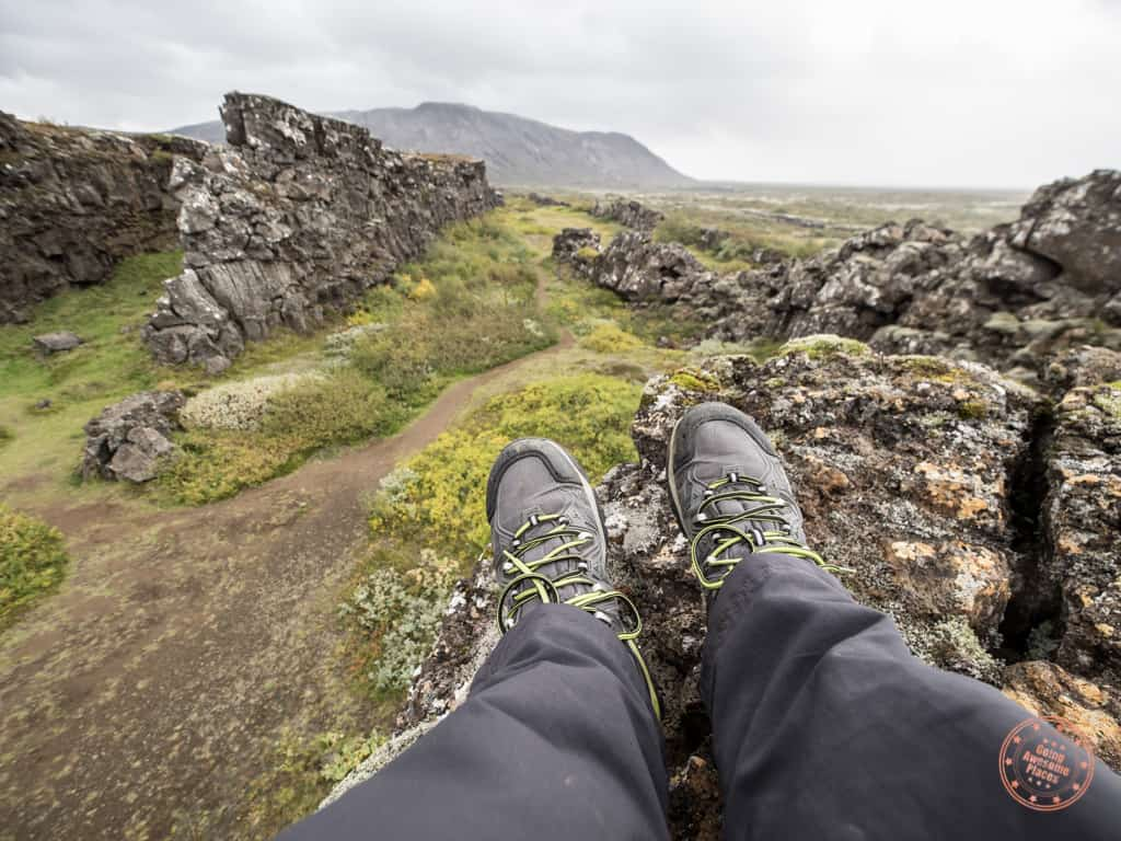 waterproof hiking shoes are a must in what to wear in iceland