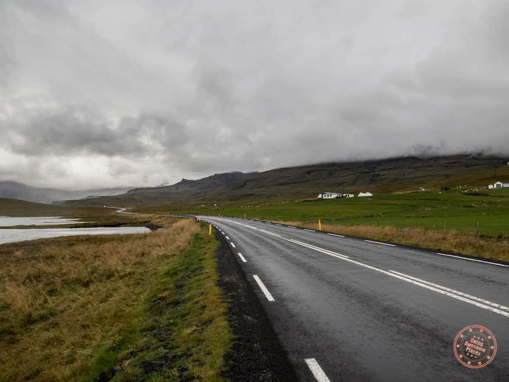 driving ring road in iceland with waze app
