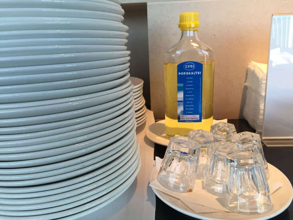 bottle of lysi fish oil in iceland