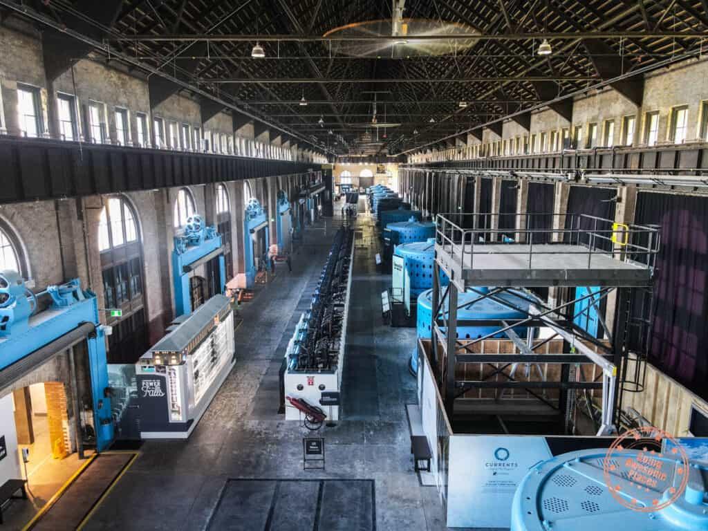 niagara parks power station generator floor aerial view