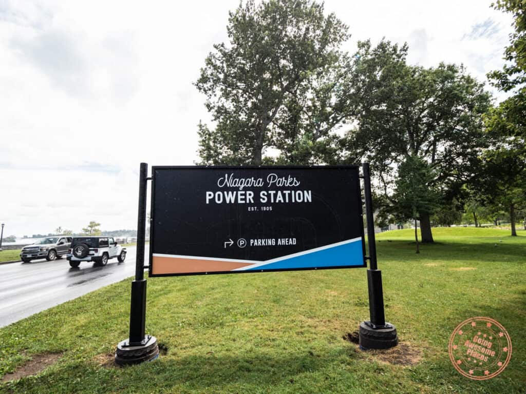 niagara parks power station street sign