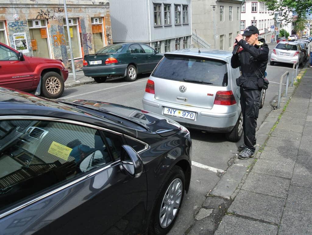reykjavik iceland parking ticket