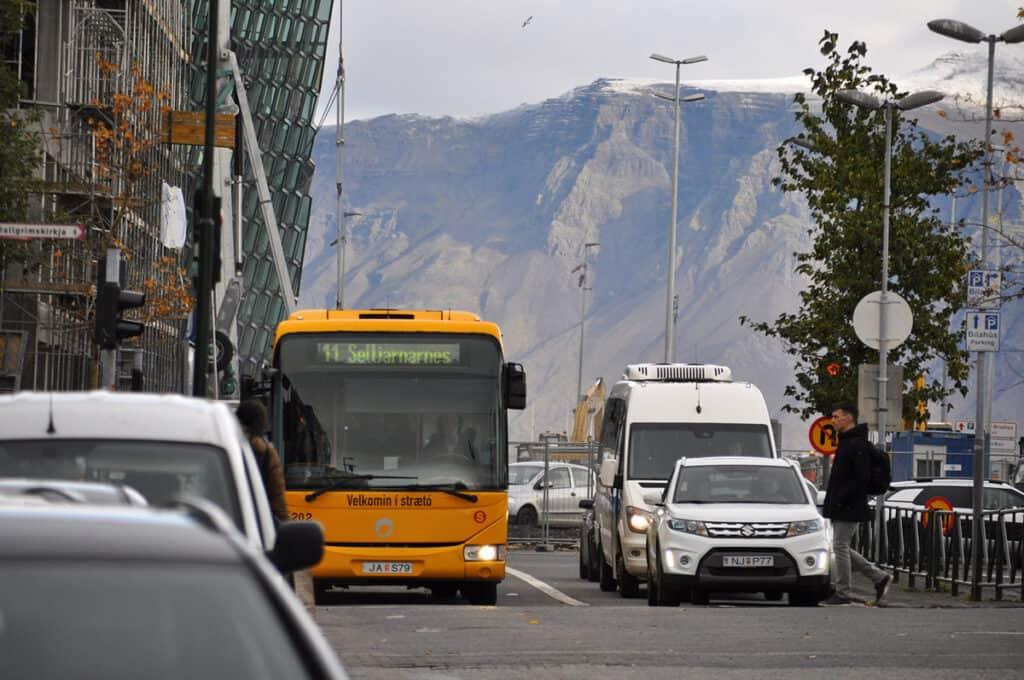 straeto public bus in reykjavik