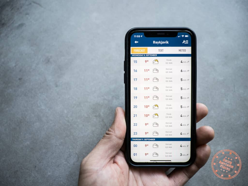 vedur weather app for iceland